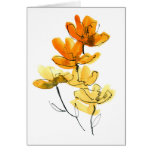 Abstract floral background greeting card