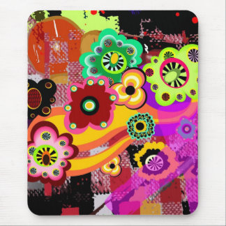 Abstract Floral Bakelite Mousepads