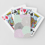 Abstract Floral Bicycle Card Decks