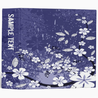 Abstract Floral Binder (Blue)