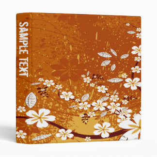 Abstract Floral Binder (Orange)