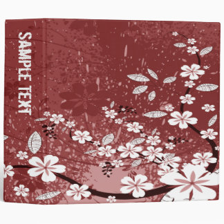 Abstract Floral Binder (Red) 3 Ring Binder