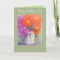Abstract Floral, birthday card for Mom