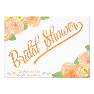 Abstract Floral Bridal Shower Invitation
