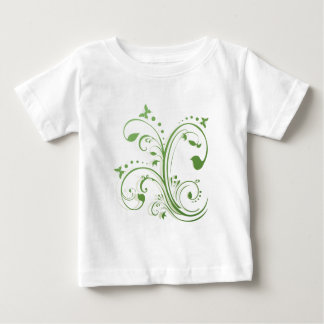 Abstract Floral Butterflies Design Baby T-Shirt
