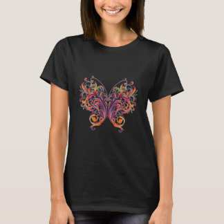 Abstract Floral Butterfly T-Shirt
