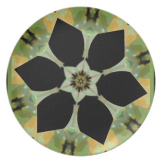 abstract floral By Rachel Smith Plate
