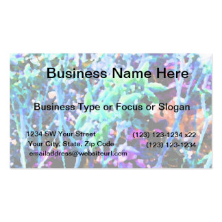 abstract floral cactus flowers blue Double-Sided standard business cards (Pack of 100)