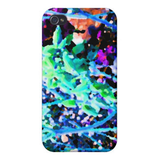 abstract floral cactus flowers blue covers for iPhone 4