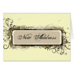 Abstract Floral Change of Address Cards