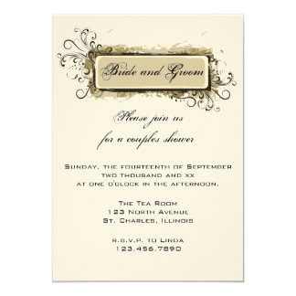Abstract Floral Couples Wedding Shower Invitation
