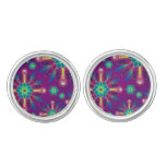 Abstract Floral Cufflinks
