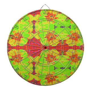 Abstract  Floral Dahlia Flower Pattern Dart Boards