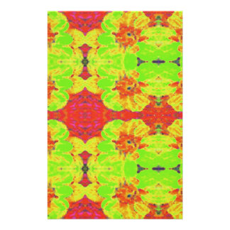 Abstract  Floral Dahlia Flower Pattern Stationery
