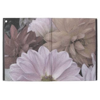 Abstract Floral Dahlia Garden Flowers iPad Pro Case