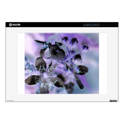 """Abstract Floral Decal For 15"""" Laptop"""
