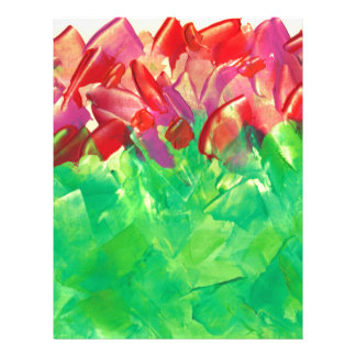 Abstract Floral Design from Original Painting Letterhead