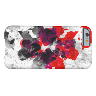 Abstract floral design - red and purple over white barely there iPhone 6 case