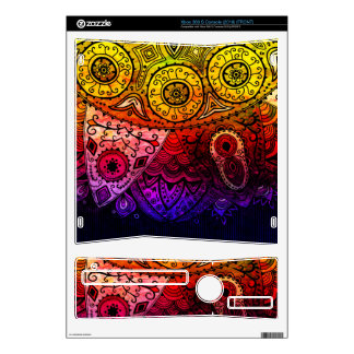 Abstract Floral Design Skin For The Xbox 360 S