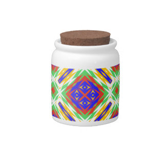 Abstract Floral Fabric Design. Spring Pattern Candy Jars
