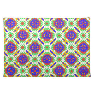 Abstract Floral Fabric Design Spring Pattern Placemats
