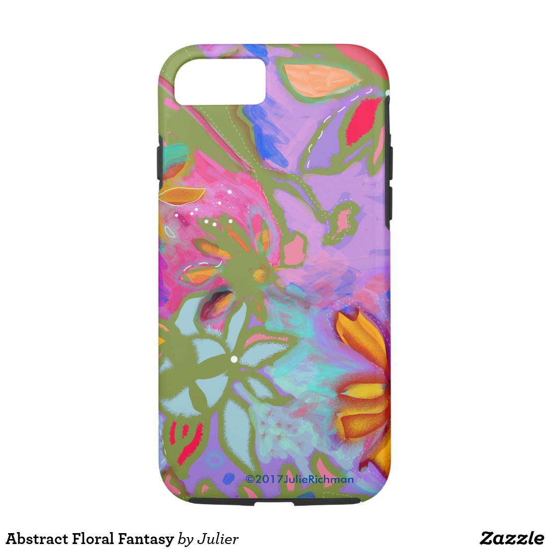 Abstract Floral Fantasy iPhone 8/7 Case