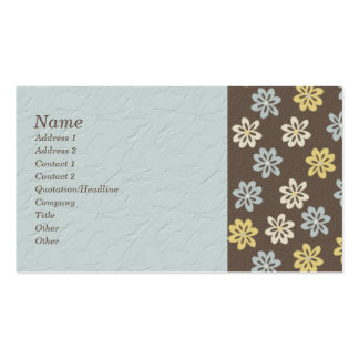 Abstract Floral Faux Textured Biz Cards Double-Sided Standard Business Cards (Pack Of 100)
