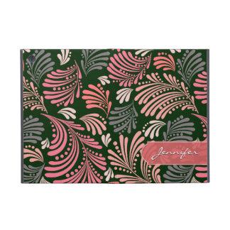Abstract Floral Feminine Folio Case iPad Mini Cases