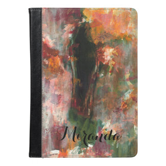 Abstract Floral Gothic Figurative Painting, Name iPad Air Case