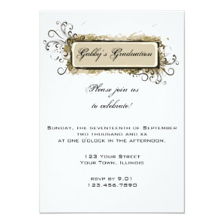 Abstract Floral Graduation Party Invitation