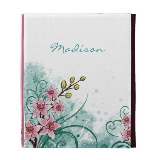 Abstract Floral iPad Case