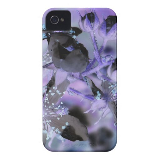 Abstract Floral iPhone 4 Cases