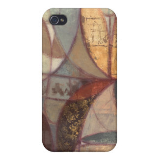 Abstract Floral Leaf Painting by Norman Wyatt iPhone 4 Case