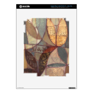 Abstract Floral Leaf Painting by Norman Wyatt iPad 3 Skins