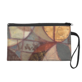 Abstract Floral Leaf Painting by Norman Wyatt Wristlet