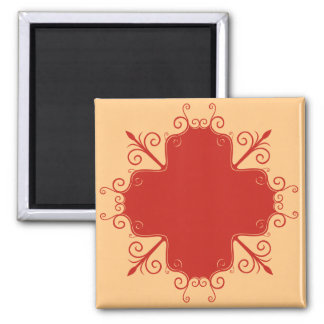 Abstract Floral Magnet