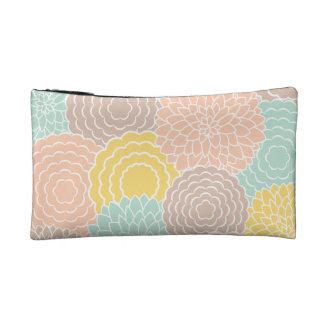Abstract Floral Makeup Bag