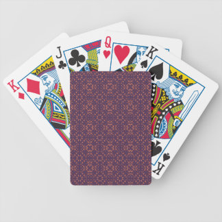 Abstract Floral Mesh On Acai Violet Background Deck Of Cards