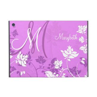 Abstract Floral Monogram Folio Cases For iPad Mini