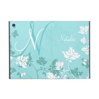 Abstract Floral Monogram Folio iPad Mini Cover