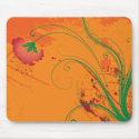 Abstract Floral Mousepad mousepad