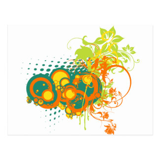 Abstract floral ornaments postcard