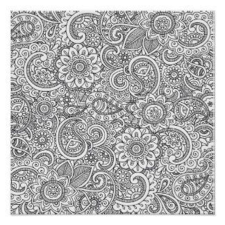Adult Coloring Posters | Zazzle