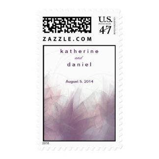 Abstract Floral Party Postage Stamp