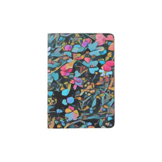 Abstract Floral Passport Holder