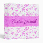 Abstract Floral Pattern Binder 3 Ring Binders