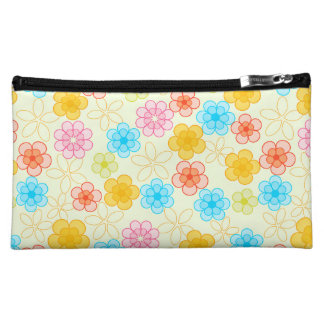 Abstract Floral Pattern Cosmetic Bag