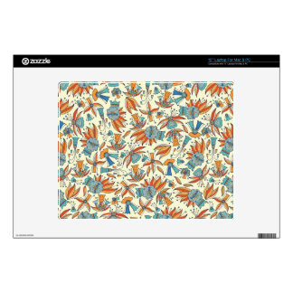 "Abstract floral pattern design 12"" laptop skins"