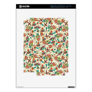 abstract floral pattern design iPad 3 decal