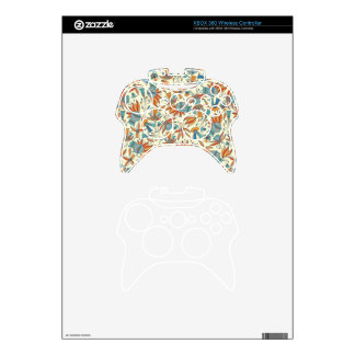 Abstract floral pattern design xbox 360 controller decal